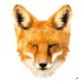 Atelier Contemporain Fox by Aksel Graphic Art on Canvas