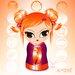 Atelier Contemporain Orange by Ds Kamala Graphic Art on Canvas in Orange