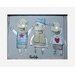 Atelier Contemporain Les Triples by Paratilla Framed Art Print