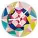 I-like-Paper Analoge Wanduhr Geometrical 13 cm