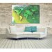 Andrew Lee Maps and Flags World Map Yellow and Green Graphic Art Wrapped on Canvas
