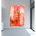 Andrew Lee London Crazy Ben Paint Red Graphic Art Wrapped on Canvas