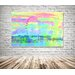 Andrew Lee Fuzzy London Graphic Art Wrapped on Canvas