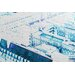 Andrew Lee London Chimney Tops Blue by Andrew Lee Graphic Art Wrapped on Canvas