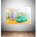 Andrew Lee London Bus Green Front by Andrew Lee Graphic Art on Canvas