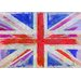 Andrew Lee Maps and Flags Union Jack by Andrew Lee Art Print Wrapped on Canvas