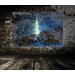 Andrew Lee French Eiffel Tower and Bark by Andrew Lee Graphic Art Wrapped on Canvas