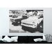 Andrew Lee 'Gold Cool Cars Satin Silver' Graphic Art Wrapped on Canvas