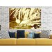 Andrew Lee 'Gold Pretty Bird' Graphic Art Wrapped on Canvas