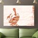 Andrew Lee 'Gold Puffin' Graphic Art Wrapped on Canvas