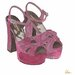 """Andrew Lee Fashion """"Purple High Heels"""" by Andrew Lee Art Print Wrapped on Canvas"""