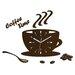 ModernClock Analoge Wanduhr Coffee Time Wenge