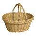 CandiGifts Plaited Top Wicker Shopper Folding Handle Basket
