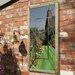 Grange Fencing Garden Mirror with Perspective Window