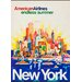 LivCorday New York Travel Vintage Advertisement Wrapped on Canvas