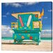 LivCorday Miami Beach Hut 3 Photographic Print Wrapped on Canvas