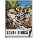 LivCorday South Africa Travel Vintage Advertisement Wrapped on Canvas