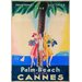 LivCorday France Travel 3 Vintage Advertisement Wrapped on Canvas