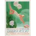 LivCorday Summer Resort Travel Vintage Advertisement Wrapped on Canvas