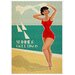 LivCorday Summer Travel Vintage Advertisement Wrapped on Canvas