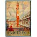 LivCorday Vicenza Travel Vintage Advertisement Wrapped on Canvas
