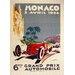 LivCorday Monaco Travel Vintage Advertisement Wrapped on Canvas
