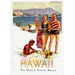 LivCorday Hawaii Travel Vintage Advertisement Wrapped on Canvas