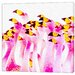 LivCorday Flamingo Flock Art Print Wrapped on Canvas