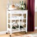 Andover Mills Hansom Kitchen Cart with Wood Top