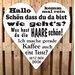 Factory4Home Schild HE-Hallo komm mal rein, Typographische Kunst