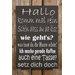Factory4Home Schild-Set BD-Hallo komm mal rein, Typographische Kunst in Schwarz