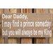 Factory4Home Schild-Set BD-Dear Daddy, Typographische Kunst
