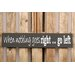 Factory4Home Schild-Set BD-When nothing goes right, Typographische Kunst in Schwarz