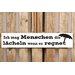 Factory4Home Schild-Set BD-Ich mag Menschen, Typographische Kunst in Weiß