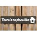 Factory4Home Schild-Set BD-There's no place like home, Typographische Kunst