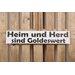 Factory4Home Schild-Set BD-Heim und Herd, Typographische Kunst in Weiß