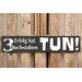 Factory4Home Schild-Set BD-Erfolg hat 3 Buchstaben, Typographische Kunst in Schwarz