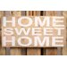 Factory4Home Schild-Set BD-Home sweet home, Typographische Kunst