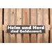 Factory4Home Schild-Set BD-Heim und Herd, Typographische Kunst in Schwarz