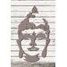 Factory4Home Schild-Set SH-Buddha head, Grafische Kunst  in Taupe