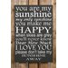 Factory4Home Schild-Set BD-You are my sunshine, Typographische Kunst in Schwarz