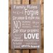 Factory4Home Schild-Set BD-Family rules, Typographische Kunst in Taupe