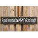 Factory4Home Schild-Set BD-A good home, Typographische Kunst in Schwarz