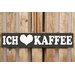 Factory4Home Schild-Set BD-Ich liebe Kaffee, Typographische Kunst in Schwarz