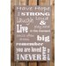Factory4Home Schild-Set BD-Have hope, Typographische Kunst in Taupe
