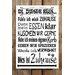 Factory4Home Schild-Set BD-Hund, Typographische Kunst in Weiß