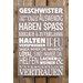 Factory4Home Schild-Set BD-Geschwister, Typographische Kunst in Taupe
