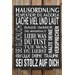 Factory4Home Schild-Set BD-Hausordnung, Typographische Kunst in Schwarz