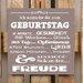 Factory4Home Schild-Set BD-Ich wünsche dir zum Geburtstag, Typographische Kunst in Taupe