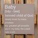 Factory4Home Schild-Set BD-Baby, Typographische Kunst in Taupe